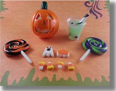 """American Girl Doll Food 18"""" Doll Food """"Trick or Treat"""" Halloween Collection - Glow in the Dark - Adorable, Cute, REALISTIC and FAST SHIPPING..."""