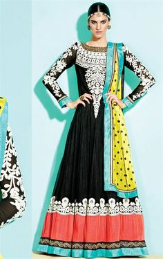 Picture of Awesome Black Designer Anarkali Salwar Suit