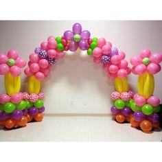 Balloon arch with 2 pillars