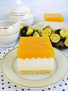 Ala piecze i gotuje: Sernik z musem brzoskwiniowym Cheesecake Recipes, Cheesecakes, Vanilla Cake, Baked Goods, Delicious Desserts, Sweets, Baking, Gummi Candy, Candy