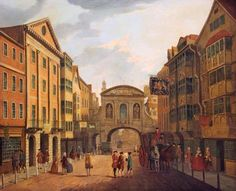 Fleet Street and Temple Bar in London c.1765 by Samuel Scott.