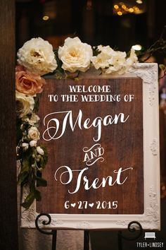 Welcome to the Wedding of Custom Rustic Wooden by BeauTiedAffair