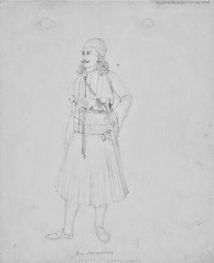 Γεώργιος Μαυρομιχάλης στο Ναύπλιο Μολύβι σε χαρτί