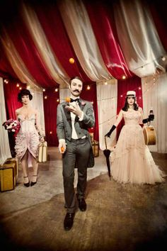 Wedding Ideas for Get Hitched Give Hope vintage circus wedding inspiration from Get Hitched Give Hope - photos by Laurel McConnell via vintage circus wedding inspiration from Get Hitched Give Hope - photos by Laurel McConnell via Vintage Circus Party, Circus Theme Party, Carnival Wedding, Circus Birthday, Vintage Carnival, Vintage Circus Costume, Birthday Parties, Cirque Vintage, Halloween Circus