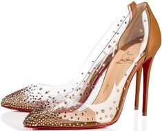This dazzling pump features a hand-placed crystal gradient set in  transparent PVC Christian Louboutin 1e3480b1237c