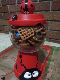 Ladybug candy dish/gumball machine
