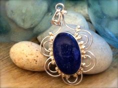Lapis and Sterling Pendant