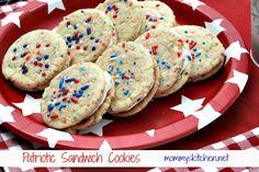 Patriotic Sandwich Cookies