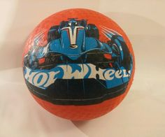 """Kick Ball Hot Wheels Rubber ball color Red 8.5""""  New by Mattel  #megatoys"""