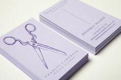 Charles Campbell hand-pressed namecards #letterpress