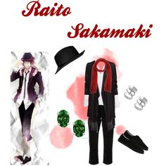 Sakamaki Raito casual cosplay created on Polyvore by Psychometorzi