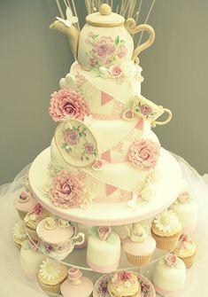 Katie's Cupcakes - Vintage Tea Party Cake