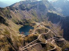 Transfagarasan - Balea Lac - Romania Transfagarasanul Road and Balea Lake in Romania Turism Romania, Visit Romania, Romania Travel, Romania Facts, Tourist Places, Places To Travel, Places To See, Albania, Dangerous Roads