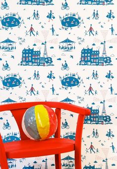 Un Dimanche à Paris Wallpaper | Little Yellow Birds