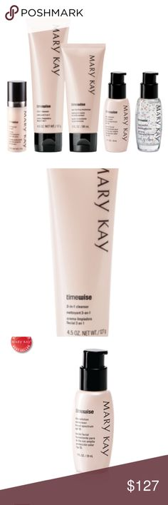 Mary Kay - Our Little Miracle Set Quantity-1  With 11 age-defying benefits, it's no wonder the best-selling TimeWise® Miracle Set® is at the top of so many wish lists. We've added the TimeWise® Firming Eye Cream so the miracles will keep coming! The normal/dry set includes these TimeWise® products: 3-in-1 Cleanser Day Solution Sunscreen Broad Spectrum SPF 35* Night Solution Age-Fighting Moisturizer (Also available in SPF 30*) Firming Eye Cream *Over-the-counter drug product The best-seller…