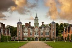 "decordesignreview: ""  The South Front at Blickling Estate, Norfolk. """