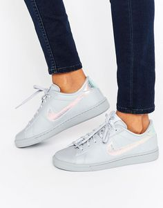Shop Nike Classic Sneakers In Holographic Grey. With a variety of delivery, payment and return options available, shopping with ASOS is easy and secure. Shop with ASOS today. Gray Nike Shoes, Grey Sneakers, Classic Sneakers, Sneakers Nike, Grey Trainers, Nike Trainers, Ballerinas, Asos, Stan Smith