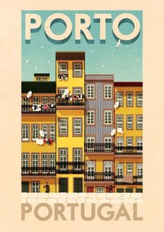 vintage portugal travel poster, must have in my house!