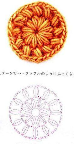 Crochê Tricô - Gráficos: Motivo Circular