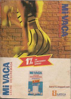 Publicidad retro en Venezuela :Leche descremada Mi Vaca años 80s