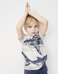 """crewcuts boy's """"license to be jaw-some"""" shark T-shirt."""