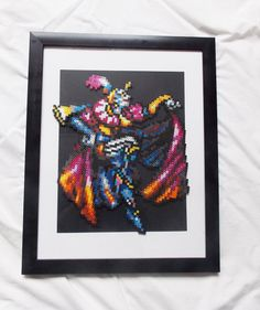 Kefka Giant Final Fantasy Wall Frame by JustALevel on Etsy