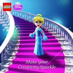 Make your Creativity Sparkle! Celebrating the release of Cinderella #Disney #Cinderella #LEGO #DisneyPrincess