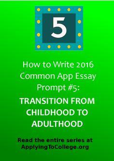 admission essay writing