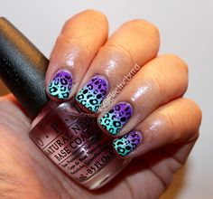 My nails! I missed gradients and leopard print!   #nails #manicure #nailart