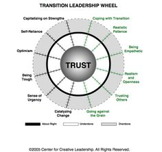 Transition Leadership Wheel - Balance to build Trust