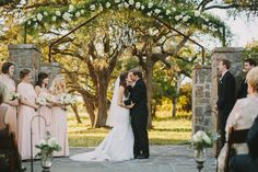 Romantic pink and white Austin, Texas wedding at Ma Maison