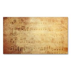 Antique Classic Music  Notes Business Cards. I love this design! It is available for customization or ready to buy as is. All you need is to add your business info to this template then place the order. It will ship within 24 hours. Just click the image to make your own!