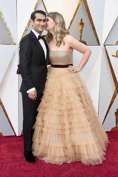 Kumail Nanjiani and Emily V. Gordon at 2018 Oscars
