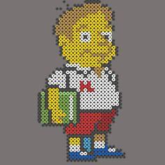 Martin Prince The Simpsons perler pattern - Hama beads B-Cino