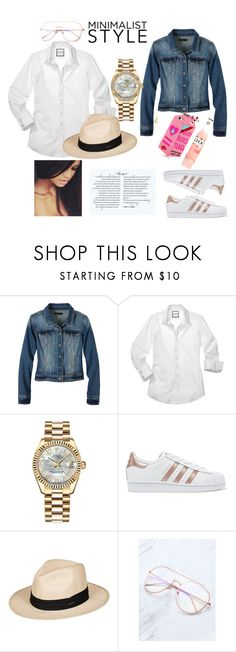 """Jean Jacket"" by toocuteboutique ❤ liked on Polyvore featuring prAna, Rolex, adidas Originals, Roxy, denim, phonecase, vacation and accessories"