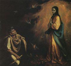 La Donzelle et sa requête à Juan Diego # Jorge Sánchez Hernández - peintre mexicain