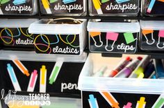 Ladybug's Teacher Files: Making it Stick (Adhesives that Last in Class) First Grade Classroom, New Classroom, Classroom Themes, Neon Classroom Decor, Classroom Libraries, Classroom Design, Teachers Toolbox, Teacher Tools, Teacher Toolbox Labels