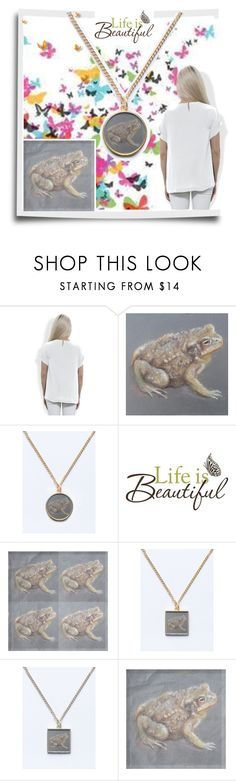 """Life is Beautiful! A frog transforming into a princess!"" by canisartstudio ❤ liked on Polyvore featuring Brewster Home Fashions"