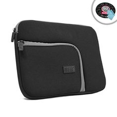 USA GEAR Protective Neoprene Tablet Sleeve with Zipper Pocket  ScratchResistant Lining  Slim Design  Works with WACOM Intuous Pen  Touch Medium  Bamboo Pen Touch  Fun Small  More * Want to know more, click on the image. (Note:Amazon affiliate link) #ComputersAccessories