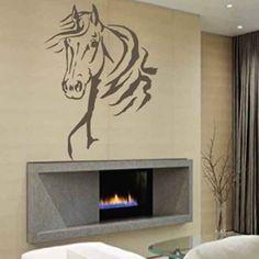 Pas cher tête de cheval animal enfants parc bébé  art mural sticker mural en vinyle lettrage citer décalque décor vivant chambre décoration à la maison, Acheter  Autocollants muraux de qualité directement des fournisseurs de Chine: