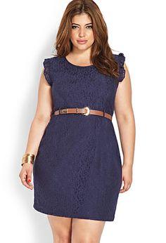 Floral Crochet Shift Dress   FOREVER 21 - 2000087762