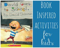 Toddler Approved!: David Goes to School Activities {David Shannon Virtual Book Club for Kids Blog Hop}