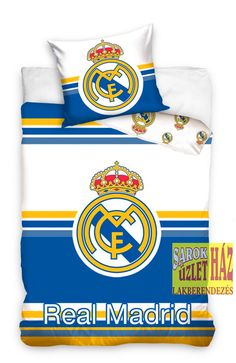 This Real Madrid CF Horizontal Striped Single Cotton Duvet Cover Set is cotton and features the iconic club crest. Football Bedding, Football Bedroom, Soccer Bedroom, Duvet Cover Sizes, Quilt Cover Sets, Real Madrid Football Club, Single Duvet Cover, Club Kids, Duvet Bedding