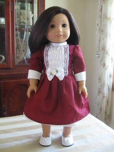Victorian Doll Clothes Party Dress Made To Fit American Girl 18 Inch Doll