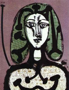 Woman with Green Hair, Pablo Picasso.