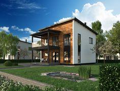 Honka Pino is an urban log home with minimalistic Scandinavian design.