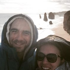 Selfie at the 12 apostles #greatoceanroad #roadtrip #touristattraction #itsfreezing #layersofclothes #australia #bestshotwecouldget #notsophotogenic by lmkassautzki