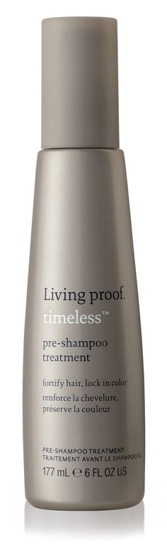 Combat the signs of aging for beautiful, healthy hair at any age. Lock in color and fortify hair with our Timeless Pre-Shampoo Treatment.
