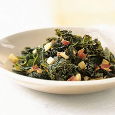 Braised Kale with Bacon and Cider #glutenfree