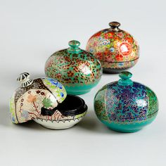 One of my favorite discoveries at WorldMarket.com: Multicolored Round Paper Mache Box